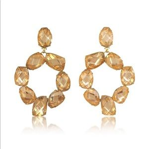 Tory Burch Pink & Vintage Gold Clip-On Earrings
